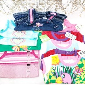 12 bundle of variety brands baby tops 6-9 months